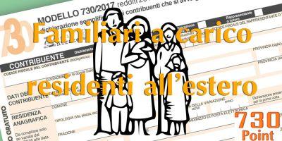 Detrazioni per familiari a carico residenti all'estero