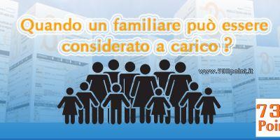 Quando un familiare può essere considerato a carico ?