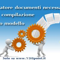 """Ti aiutiamo a preparare tutta la documentazione,  necessaria alla compilazione del 730. Genera la documentazione in pochi """"Click""""  !"""