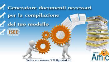 Generatore documenti - Modello ISEE documentazione necessaria, documentazione ISEE